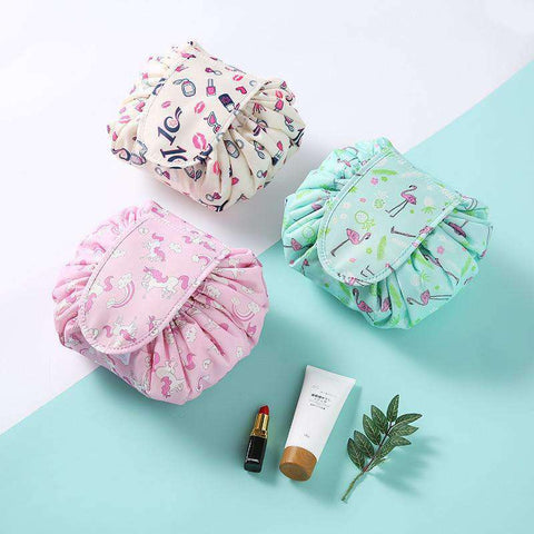Quick Makeup Bag-Bags-Pink Stripe-InCrate.store