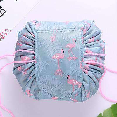 Quick Makeup Bag-Bags-Blue Flamingo-InCrate.store