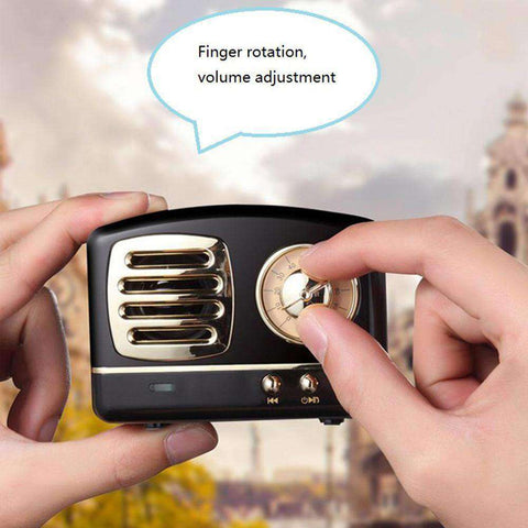 Retro Radio Bluetooth Speaker-Electronics-Pink-InCrate.store