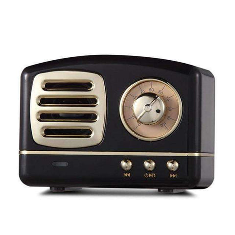 Retro Radio Bluetooth Speaker-Electronics-Black-InCrate.store
