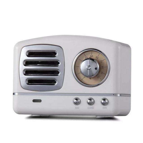 Retro Radio Bluetooth Speaker-Electronics-White-InCrate.store