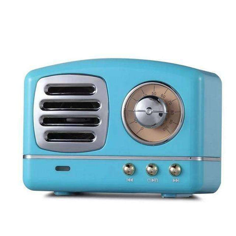 Retro Radio Bluetooth Speaker-Electronics-Blue-InCrate.store