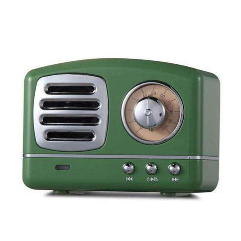 Retro Radio Bluetooth Speaker-Electronics-Army Green-InCrate.store