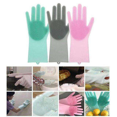 Multi-Purpose Silicone Magic Gloves (1 Pair)-Household gadgets-Blue-InCrate.store
