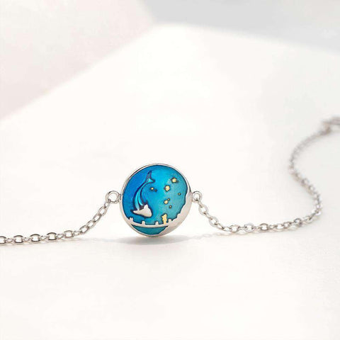 Image of Sea of Stars Dolphin Bracelet-Bracelets-InCrate.store