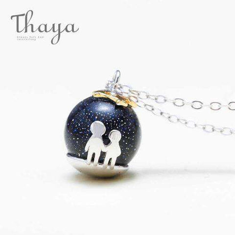 Image of Beneath The Stars Pendant Necklace-Necklaces-InCrate.store
