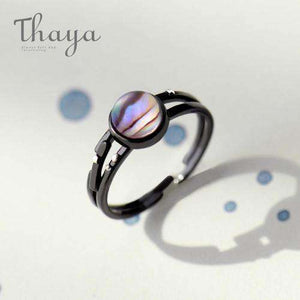 Milky Way and Star Trails Rings-Rings-Resizable-Crystal Star ring-InCrate.store