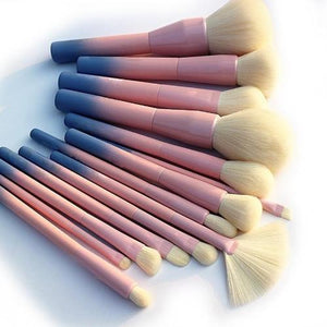 Gradient Color Pro Makeup Brushes (14 pcs)