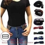 Image of BUCKLE-FREE ELASTIC STRAP BELT-Belt-Black-InCrate.store