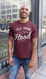 ALL GOOD (MEN'S) BURGUNDY TEE