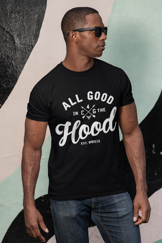 ALL GOOD (MEN'S) BLACK TEE