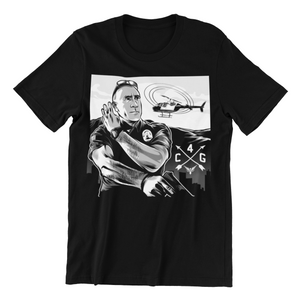 """THE GHETTO BIRD"" UNISEX CLASSIC B&W TEE"