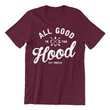 Load image into Gallery viewer, ALL GOOD (MEN'S) BURGUNDY TEE