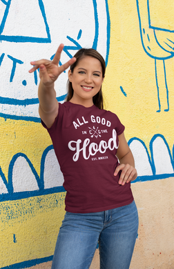 ALL GOOD (WOMEN'S) BURGUNDY TEE
