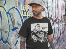 "Load image into Gallery viewer, ""THE GHETTO BIRD"" UNISEX CLASSIC B&W TEE"
