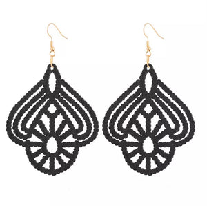Laser Cut Wood Earrings Flower| Pantallas de Madera Cortadas Laser