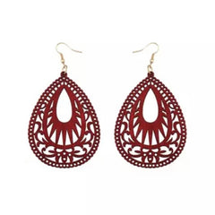 Laser Cut Wood Earrings Tribal| Pantallas de Madera Cortadas Laser