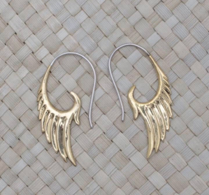 Bali Brass Petite Wings Handmade Earrings
