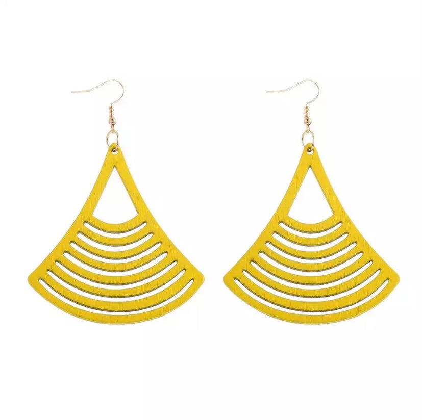Laser Cut Wood Earrings Diamond  | Pantallas de Madera Cortadas Laser