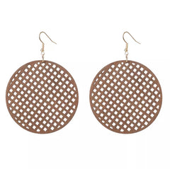 Laser Cut Wood Earrings Waffle | Pantallas de Madera Cortadas Laser