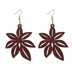 Laser Cut Wood Earrings Pascua & Long Leaf | Pantallas de Madera Cortadas Laser