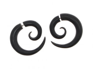 Horn Split Fake Plug Earrings Simple