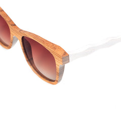 The Wayfarer Design Slim White Wood Sunglasses - EL CAMINANTE BLANCO