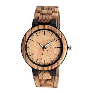 The Agenda Natural Wood Watch Natural Dial - LA AGENDA
