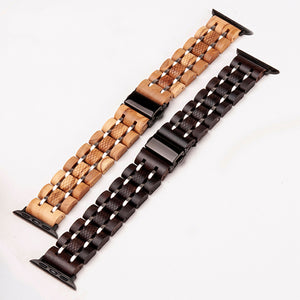 The Smartwatch Wood Band with Stainless Steel - LA MANZANA