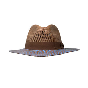 Aussie Two Tone Blue-Chocolate Genuine Panama Hat