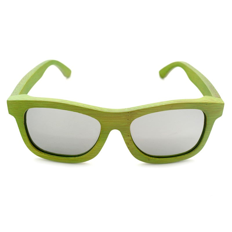 The Square Design Lime Green Wood Sunglasses - EL CUADRADO VERDE