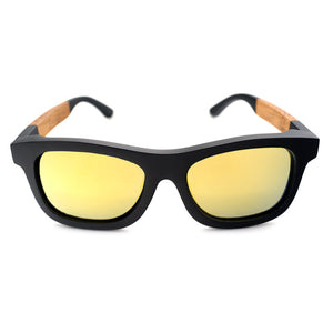 The Square Design Two Tone Wood Sunglasses - EL CUADRADO 2 TONOS