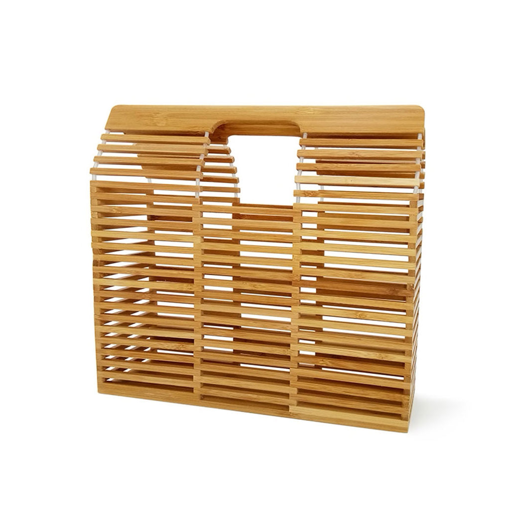 Bamboo Rectangle Handmade Purse | Cartera Rectangular de Bamboo Hecha a Mano
