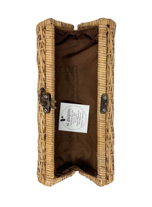 Bali Envelope Long Clutch Rattan Purse with lining