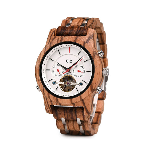The Calendar Wood Watch - EL CALENDARIO