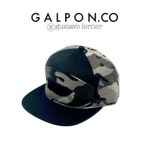 Puerto Rico Map Camouflage Six Panel Grey/Black Snapback Cap