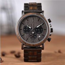 The Chronometer Dial Metal Men's Wood Watch Ebony - EL CRONOMETRO