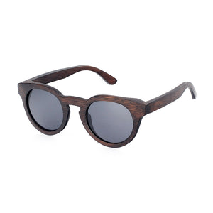 The Round Dark Wood Sunglasses - EL CIRCULO