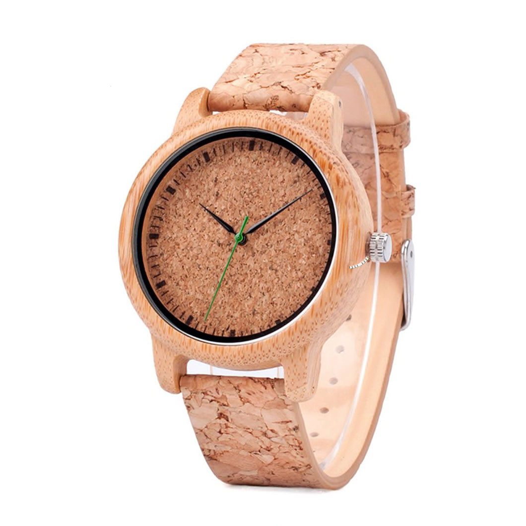 The Cork Women's Wood and Cork Watch - EL CORCHO