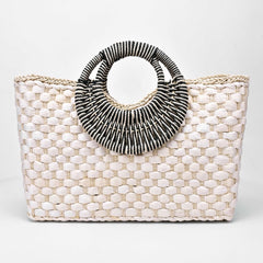Stylish Tote Straw Purse | Elegante Bolso de Mano