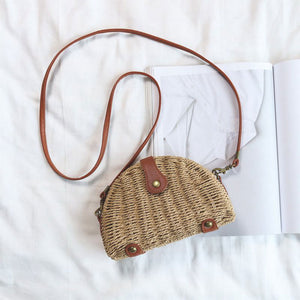 Retro Envelope Hard Straw Purse  | Retro Cartera Sobre de Paja Dura