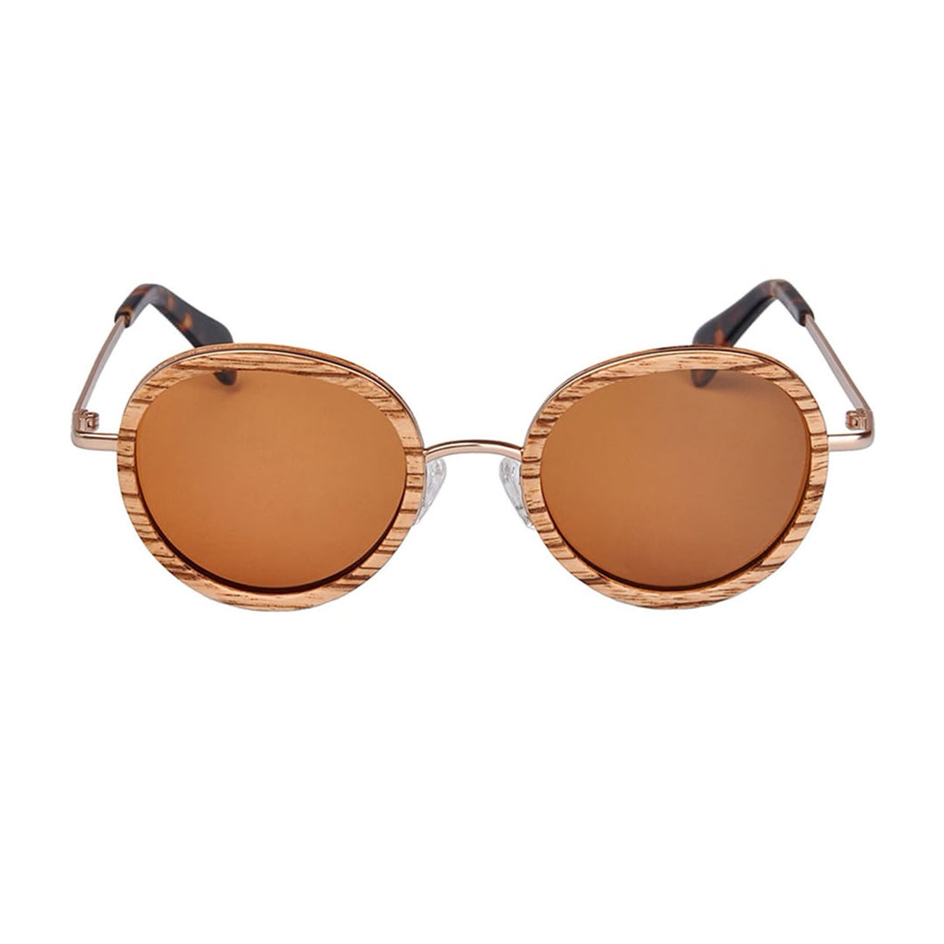 The Sphere Wood and Metal Sunglasses - LA ESFERA