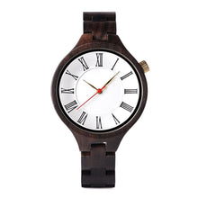 The Grecian White Dial and Mahogany Unisex Wood Watch - EL GRECO