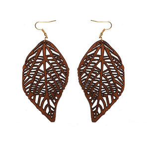 Laser Cut Wood Earrings Leafs| Pantallas de Madera Cortadas Laser