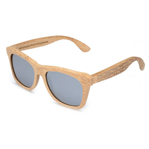 The Wayfarer Design Tribal Etched Wood Sunglasses - EL CAMINANTE TALLADO
