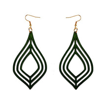 Laser Cut Wood Earrings Jewel | Pantallas de Madera Cortadas Laser