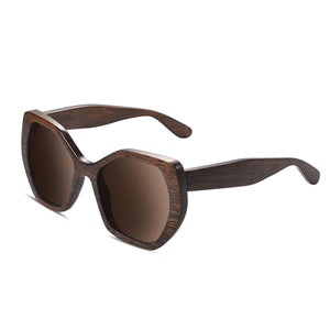 The Hexagon Wood Sunglasses - EL HEXAGONO