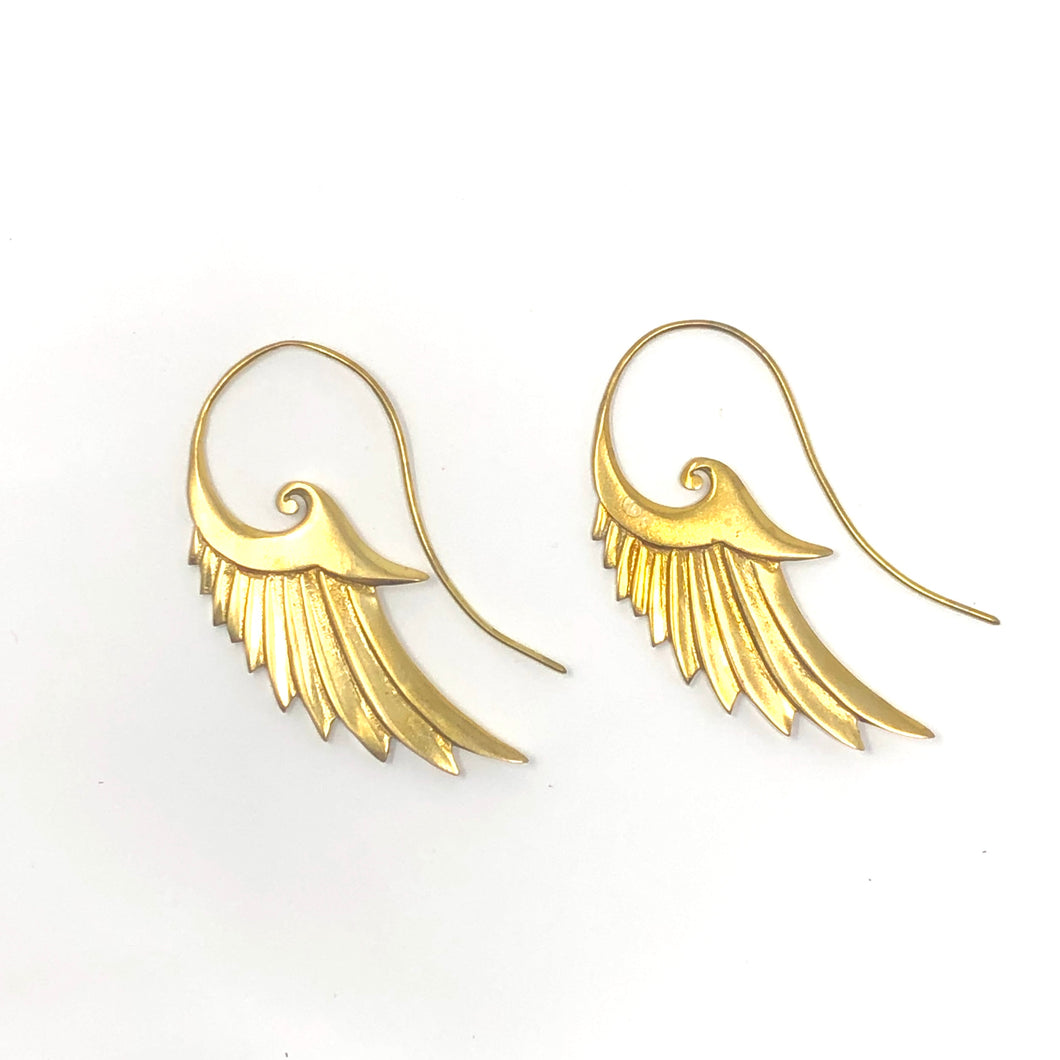 Bali Brass Handmade Wings Earrings