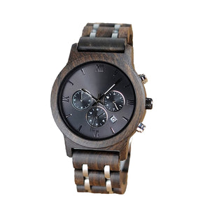 The Industrial Men's Wood and Stainless Steel Watch - EL INDUSTRIAL