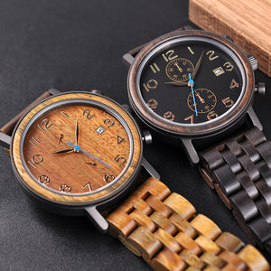 The Impressionist Men's Wood Watch - EL IMPRESIONISTA